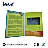 Buon prezzo opuscolo dell'affissione a cristalli liquidi da 7 pollici video per la promozione di affari/regalo, prezzo di fabbrica