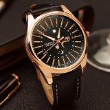 H368 Van de Bedrijfs luxe van Yazole Horloge voor Polshorloge van de Mensen van de Stijl van de Ster en van de Maan van Mensen het Waterdichte