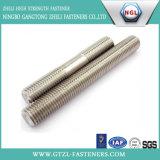 Boulon de goujon de l'acier inoxydable DIN835 pour l'industrie