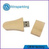 legno promozionale del USB con il bastone della penna del USB di marchio dell'incisione