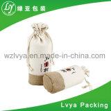 Sacchetto promozionale personalizzato dell'estetica della tela di canapa del cotone