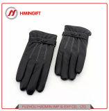 洗浄された革3つのラインPUの手袋の冬の循環の乗馬の暖かい人タッチ画面の手袋の屋外の防護手袋