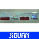 La qualité a assuré l'étiquette auto-adhésive de fiole d'hologramme des prix bon marché