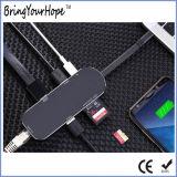 Тип-C конвертер поставки силы 7in1 HDMI RJ45 USB-C эпицентра деятельности (XH-HUB-009)