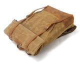 Sac fou de sac à dos de toile de Repellence de l'eau de cuir de cheval de sac à dos de toile d'épreuve de l'eau (RS-8004-2)