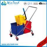 Manufatuering unico commerciale Lato-Preme il Mop e la benna con le rotelle
