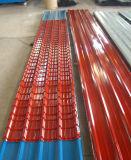 De kleur bedekte het Gegalvaniseerde Dakwerk van het Metaal PPGI van het Dak Bladen Golf met een laag