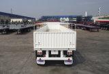 2車軸および空気中断トラックシャーシが付いている半Cimc 40FTの低下の側面のトラックのトレーラー