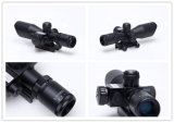 Mini-2.5-10X40 Laser Vermelho Âmbito objectivo Vista Espingarda de caça Âmbito