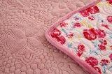 Stickerei-Zudecke mit Flanell-Gewebe und kann angepasst vom Rosa