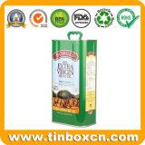 Barattolo di latta a perfetta tenuta del metallo per l'olio di oliva 5 litri