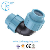 Compression plastique recyclables PP Raccords de flexible coudé mâle