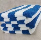 高品質の綿の大きいテリーの縞のビーチタオル