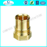 El CNC de torneado de la aduana del CNC de la precisión trabajó a máquina piezas de metal de cobre amarillo dadas vuelta