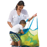 Le sable de bébé de gosses le plus neuf loin portent les sacs de transport Ld45 de jouets de bille de plage de la mémoire des enfants de maille d'emballage de poche de jouets de trésors de plage