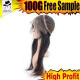 100% 10A 급료 브라질 Glueless 머리 레이스 가발