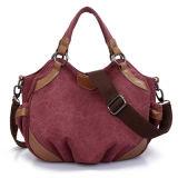 Senhora Canvas Tote bag bolsa com revestimento de PU Wzx1419