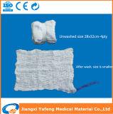 高品質の青いループおよびX光線バリウムチップが付いている外科ラップのスポンジ(腹部のガーゼ)