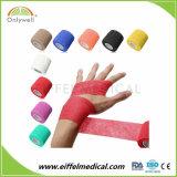 Vendaje cohesivo auto-adhesivo del deporte médico colorido sin el látex
