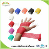 Повязка цветастого медицинского спорта Self-Adhesive кохезионная без латекса