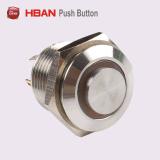 16mmのVandalproof金属LEDの電気押しボタンスイッチ