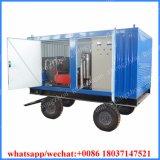 15000фунтов 100 Мпа холодной водой высокого давления насосных станций машины оборудование для очистки дизельного двигателя