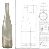Frasco de vidro super 750ml de vinho de Burgunday do sílex
