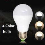LED 전구를 바꾸는 9W LED 램프 3CCT 전구 색깔