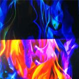Tcs vender agua caliente las películas de impresión por transferencia colorido patrón llama nº K009f1145b