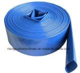 Полив отводного штуцера шланга PVC специальным высокопрочным Layfiat положенный насосом плоский