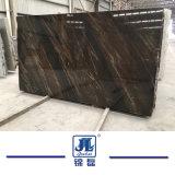 석판 도와 Coutertop 벽 지면 훈장 단계 싱크대를 위한 유사 브라운 자연적인 Polished 대리석
