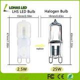 bulbo equivalente do diodo emissor de luz do bulbo de halogênio de 2.5W G9 6000K 25W para a iluminação geral