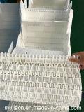 Correia transportadora modular plástica branca de Hairise com grampo