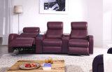 Modernes drei Sitzechtes Lederrecliner-Sofa (HC049)
