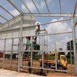Ghana-Stahlkonstruktion-vorfabriziertes Geflügel bringen Huhn-Haus unter