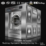 호텔 사용 50kg 완전히 자동적인 산업 세탁기 갈퀴 세탁물 기계