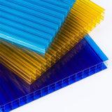 Folha da cavidade da isolação térmica da parede do policarbonato quatro para 10-Year-Warranty