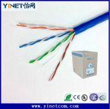 Cable de LAN de cobre de los datos de Ethernet de las ventas Cat5e/CAT6 UTP de la fábrica 1000 pies