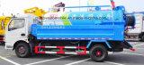 HP 4X2 Dongfeng 125 вакуумирует тележку всасывания с тележкой брызга воды