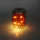 Décoration extérieure en plein air Glitter LED Glass Jar Light