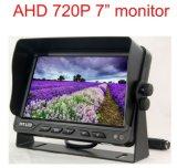 Moniteur de vision arrière LCD voiture rechargeable Ahd 720p de 7 pouces