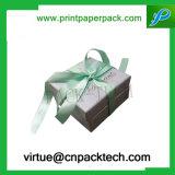 Коробка люкс твердого торта конфеты бумажная с смычком для присытствыющий упаковывать
