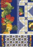 Afgedrukte Tafelkleed van het Ontwerp van vier Kleuren het Nieuwe pvc met Steun