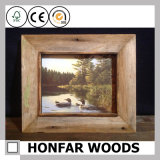Wand-Kunst-schäbiger festes Holz-Bilderrahmen mit Montierung