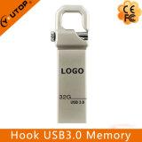 Het gepersonaliseerde Geheugen van de Flits van de Haak USB3.0 van het Metaal van het Embleem Zilverachtige (yt-3258-03)