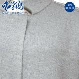灰色の文字の長い袖の立場カラー緩い新式のブラウス