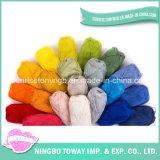 Tejidos de hilados barato al por mayor colorido tejido acrílico de tinte impresa (T001)