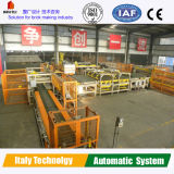 De automatische Rode Installatie van de Baksteen met het Laden van en het Leegmaken van Systeem