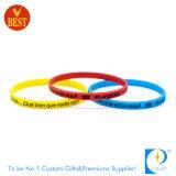 Bracelet de silicones estampé par coutume pour le cadeau promotionnel