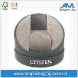 La cartulina recicla el rectángulo de regalo de empaquetado del reloj de papel del cilindro con la pieza inserta